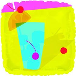 18''(45см) шар   квадрат летние развлечения желтый