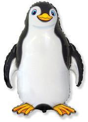 32''(81см) шар   фигура счастливый пингвин черный