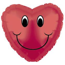 Шар 18'' (45см)  сердце     смайл красный