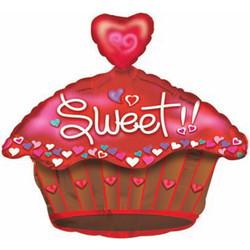 Шар 20'' (50см)  фигура     сладкий кекс красный