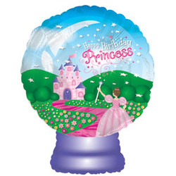 Шар 22'' (55см)  фигура     стеклянный  с принцессой
