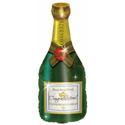 Шар 37'' (93см)  фигура     поздравляю бутылка шампанского