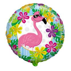 18''(45см) шар   круг фламинго