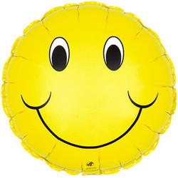 31''(78см) шар   круг смайл желтый