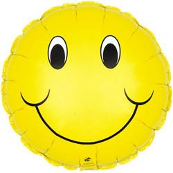 18''(45см) шар   круг смайл желтый