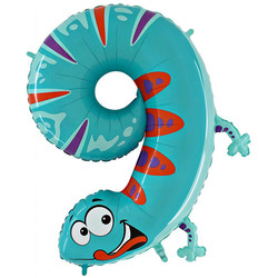 40''(106см) шар   цифра  ящерица