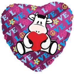 Шар 18'' (45см)  сердце     теленок с м