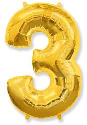 Шар 40'' (106см)  цифра      золото