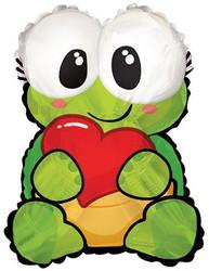 Шар 22'' (55см)  фигура     черепаха с сердцем