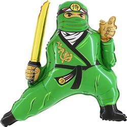 Шар 32'' (81см)  фигура     ниндзя зеленый