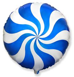 Шар 18'' (45см)  круг     леденец синий