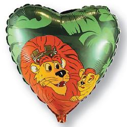 Шар 18'' (45см)  сердце     корольлев зеленый