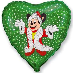 Шар 18'' (45см)  сердце     майти рождество зеленый