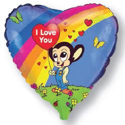 Шар 18'' (45см)  сердце     любовь могучей мыши