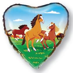 18''(45см) шар   сердце лошади