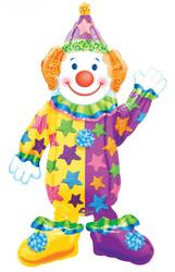 44''(111см) шар   ходячая фигура клоун в упаковке