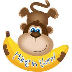 28''(71см) шар   фигура обезьянка с бананом коричневый