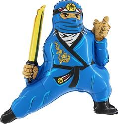 Шар 32'' (81см)  фигура     ниндзя синий