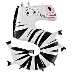 Шар 40'' (106см)  цифра      зебра
