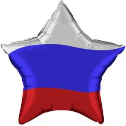 18''(45см) шар   звезда триколор россии эксклюзив