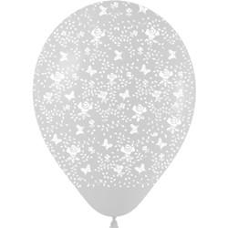 Шар 14'' (36см)     розы   кристалл