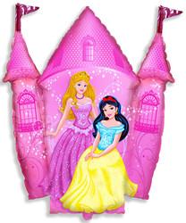 Шар 33'' (83см)  фигура     замок принцессы розовый