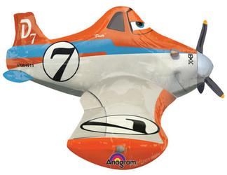 Шар 37'' (93см)  ходячая фигура     самолет дасти в упаковке