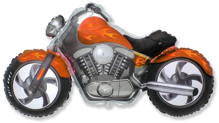 Шар 45'' (114см)  фигура     байк оранжевый