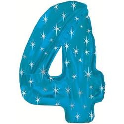 Шар 42'' (106см)  цифра      в упаковке синий