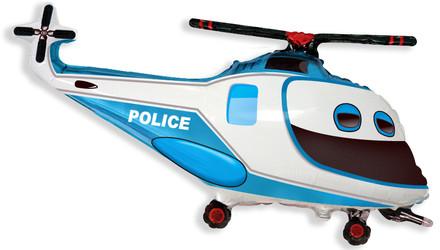 Шар 39'' (99см)  фигура     полицейский вертолет