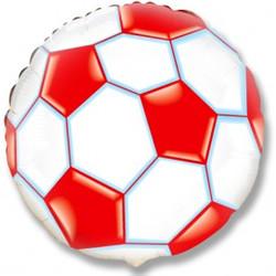Шар 18'' (45см)  круг     футбольный мяч красный