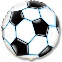 Шар 18'' (45см)  круг     футбольный мяч черный