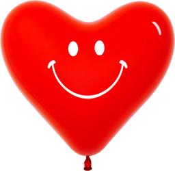 Шар 14'' (36см)  сердце   улыбка   кристалл
