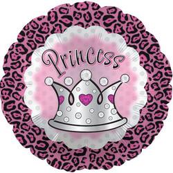 Шар 18'' (45см)  круг     принцессагепард в короне