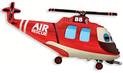 39''(99см) шар   фигура вертолет-спасатель