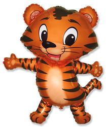 32''(81см) шар   фигура тигренок черный