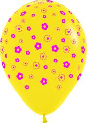 Шар 14'' (36см)     цветы   пастель