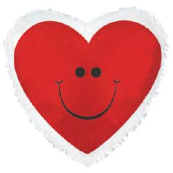 Шар 18'' (45см)  сердце     смайл сердечко красный