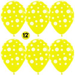 14''(36см) Шар   Смайлы Желтый  пастель