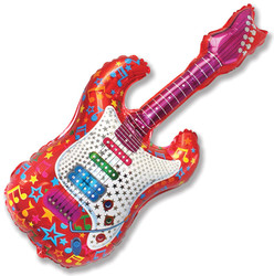 44''(111см) шар   фигура гитара красный