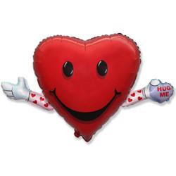 Шар 32'' (81см)  фигура     любовь и объятия красный