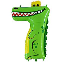 40''(106см) шар   цифра  крокодил зеленый