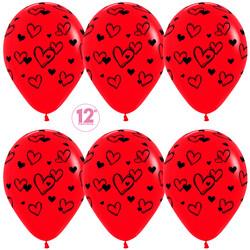 Шар 14'' (36см)     набросок сердец   пастель