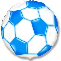 Шар 18'' (45см)  круг     футбольный мяч синий