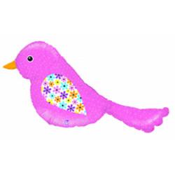 Шар 40'' (106см)  фигура     птичка розовый