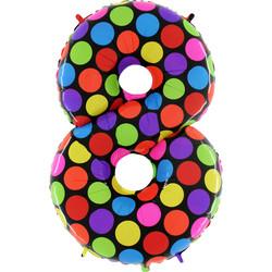 Шар 40'' (106см)  цифра      супер яркий