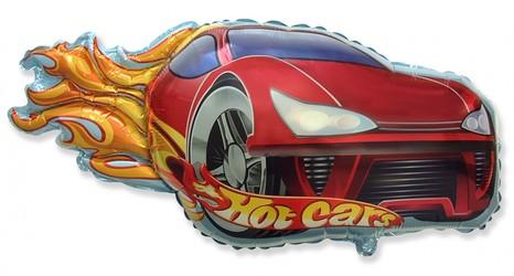 Шар 32'' (81см)  фигура     гоночная машинка красный