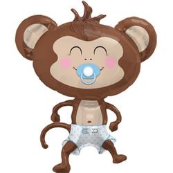 Шар 41'' (104см)  фигура     обезьянка мальчик коричневый