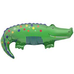 35''(88см) шар   фигура крокодил зеленый