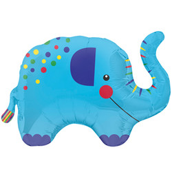 35''(88см) шар   фигура слоник синий